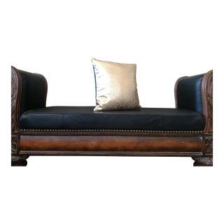 Gambrell Renard Gold Floral Leather Pillow
