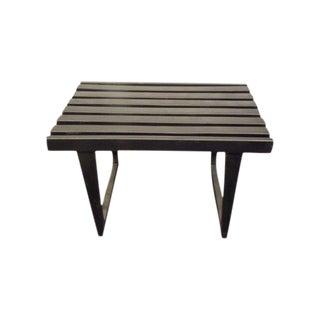 Mid Century George Nelson Style Black Slat Bench