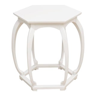 Baker Lacquered Side Table