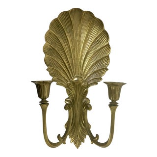 Brass Shell Candle Wall Sconce
