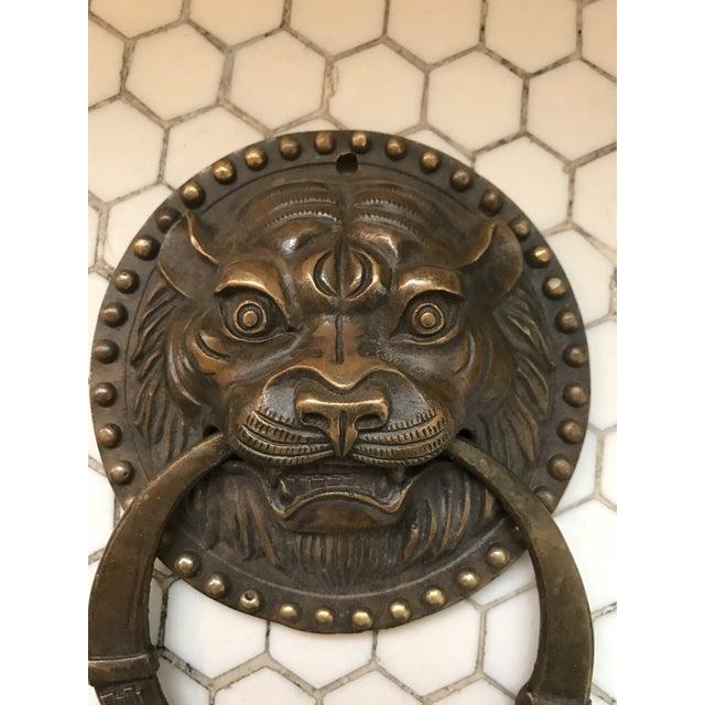 Asian Tiger Brass Door Knocker - Image 8 of 8