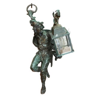 Vintage Bronze Pirate Outdoor Wall Light