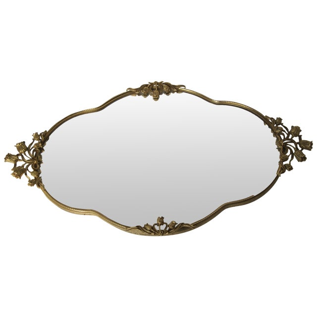 Mid-Century Tulip Mirrored Vanity Tray - Image 1 of 8