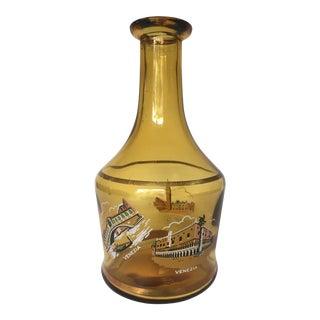 "Vintage Amber Glass ""Venezia"" Decanter"