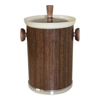 Mid-Century Kromex Faux Wood Ice Bucket