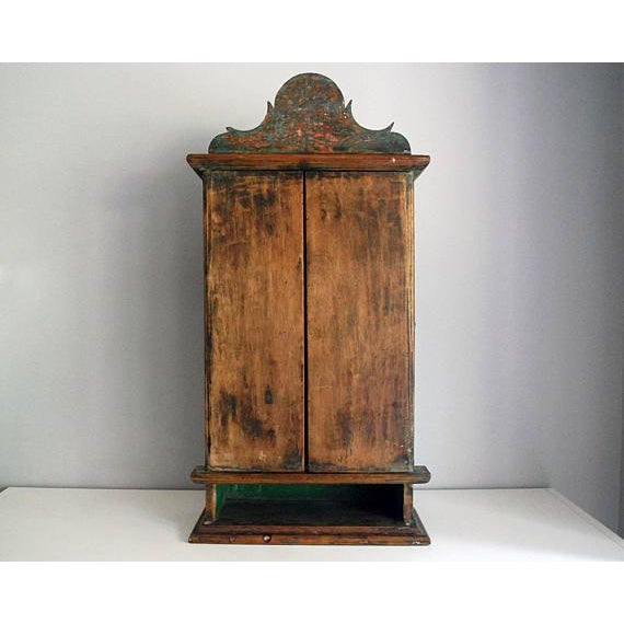 Antique 19th Century Brazilian Baroque Oratory Wood Altar Piece - Image 4 of 7
