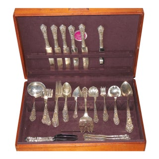 Reed & Barton French Renaissance Sterling Silver Flatware - Set of 52