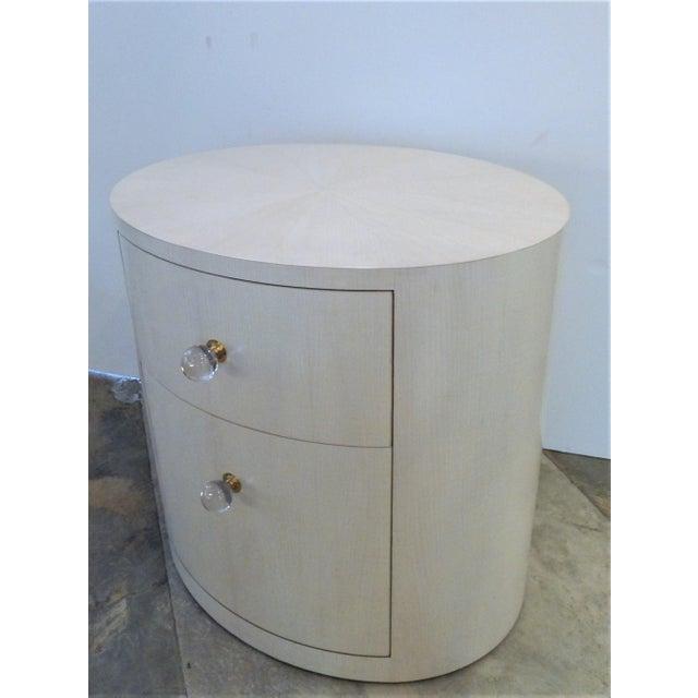 Italian-Inspired 1970S Style Oval Nightstand - Image 5 of 8