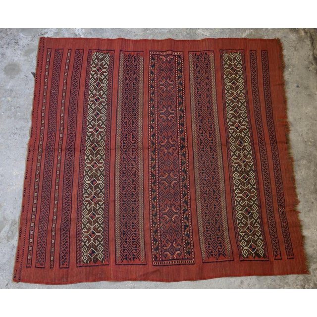 "Vintage Turkish Aztec Print Rug - 5'1"" x 5'3"" - Image 2 of 8"
