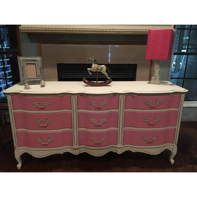 Pink & White French Provincial Dresser - Image 9 of 9