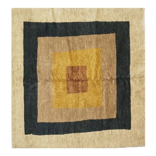 Persian Gabbeh Wool Rug - 5′10″ × 6′4″