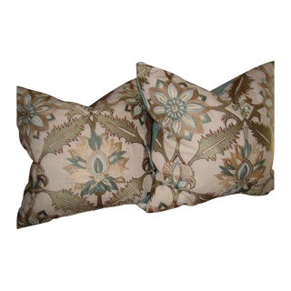 Embroidered Pillow with Velvet Backing