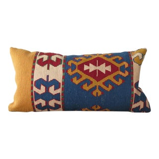 Vintage Turkish Kilim Lumbar Pillow