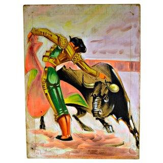 Bullfighter Acrylic on Canvas