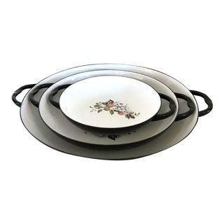 Japanese Enamel Cookware Pans - Set of 3