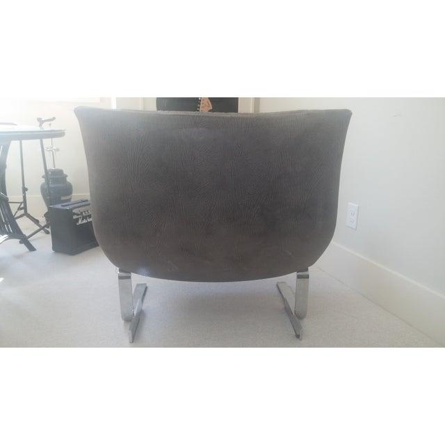 "Saporiti ""Onda (Wave) Lounge Chairs"" - Pair - Image 6 of 8"