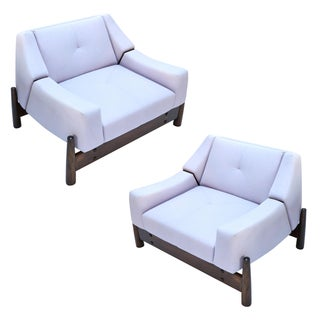 Pair of 1960s Percival Lafer Brazilian Club Chairs