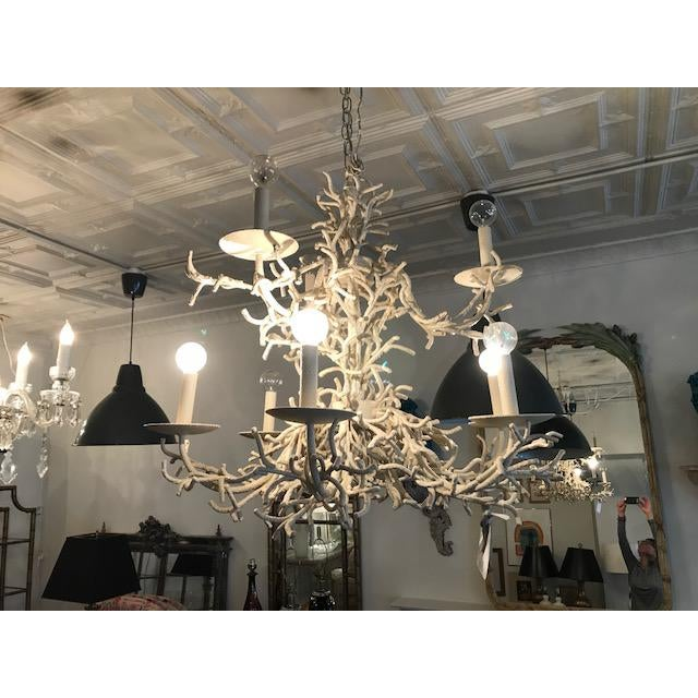 Vintage Faux Coral Chandelier - Image 9 of 10
