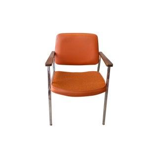 1977 Delwood Orange Vinyl Task Chair