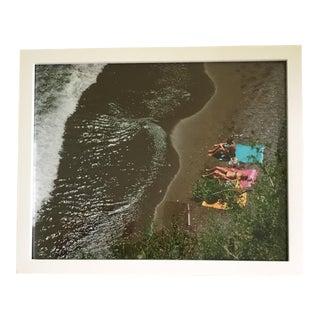 Framed Photograph of Italian Sun Bathers