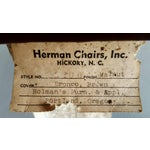 Image of Herman Chairs Inc. Mid-Century Brown Leather Chair