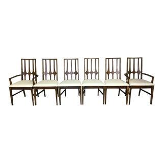 Set of Broyhill Brazilia Walnut Dining Chairs