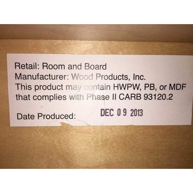 Room & Board Contemporary Laminate Oak & Metal Media Cabinet - Image 9 of 9