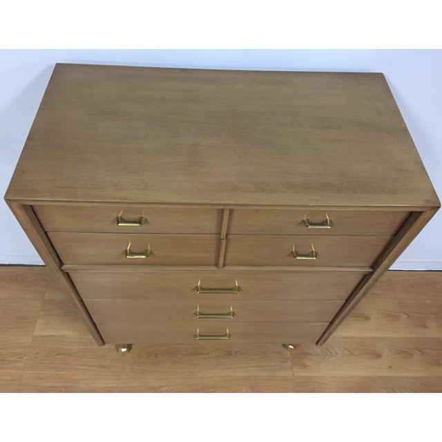 Kent Coffey Vintage Mahogany & Brass Tall Dresser - Image 5 of 9