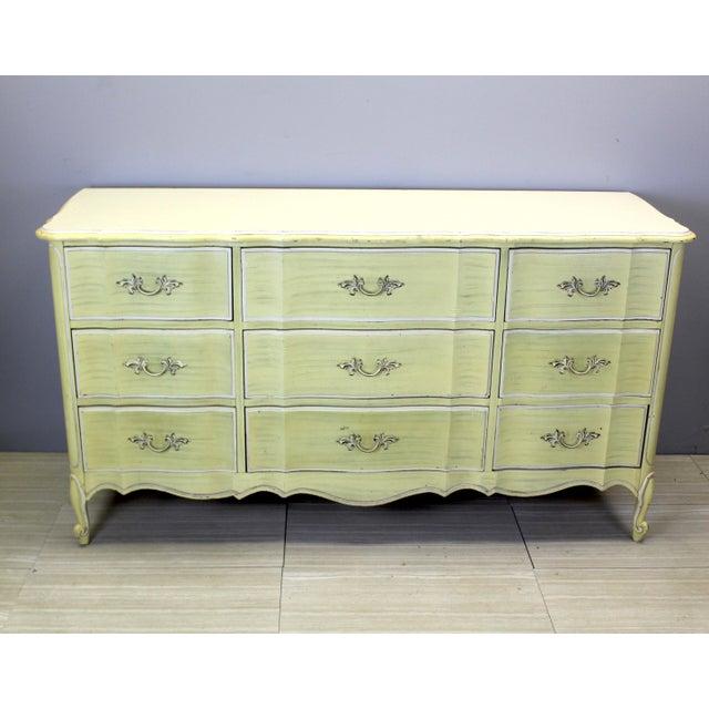 Mid Century Canary Yellow Dresser - Image 4 of 4