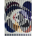 Image of Vintage Yaacov Agam Framed Exhibition Print