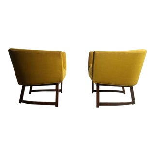 Milo Baughman for Thayer Coggin Goldenrod Yellow Lounge Chairs - A Pair