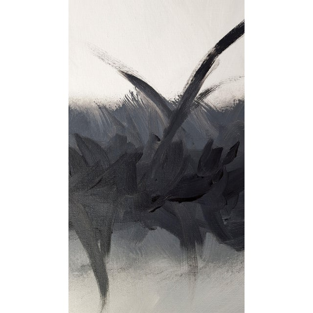 """Bliss in Black"" Modern Expressive Abstract Art Painting - Image 2 of 4"