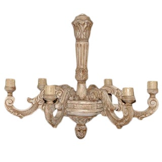 French Carved Wood Chandelier