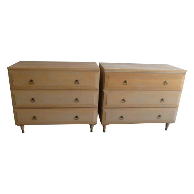 Mid Century Aristo Bilt Rare Wood Dressers Pair
