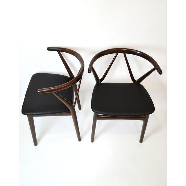 Danish Bruno Hansen Dining Chairs - A Pair - Image 9 of 10