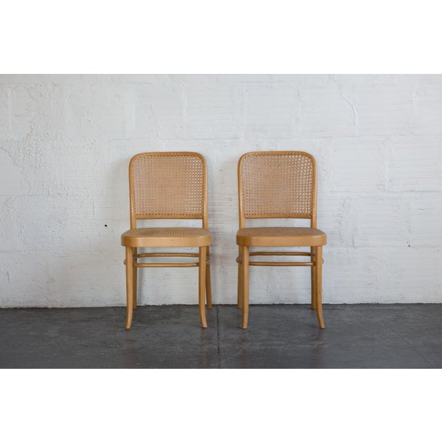 Prauge Cane Bentwood Woven Side Chairs - Set of 4 - Image 4 of 11