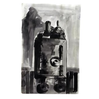 Abstract Original Black & White Painting