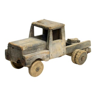 Vintage Handmade Wood Truck Folk Toy