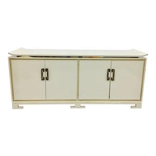 Ming Style White Credenza