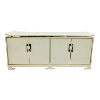 Ming Style White Credenza