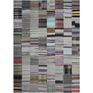 "Hand Knotted Patchwork Kilim - 13'0"" x 9'10"""