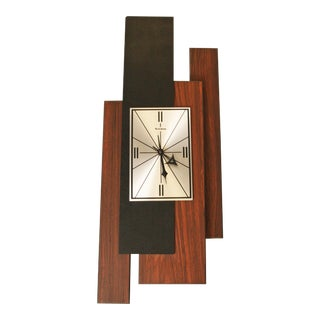 1960s Danish Modern George Nelson Style Wall Clock