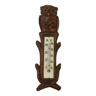 Black Forest Thermometer Wall Decoration