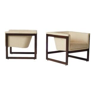 milo baughman floating club chairs
