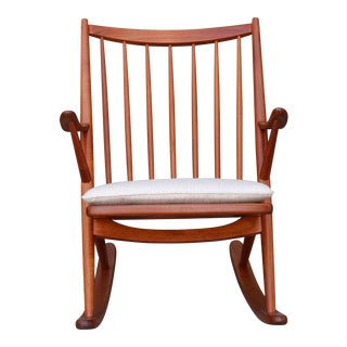 Danish Teak Rocking Chair by Reenshang for Bramin