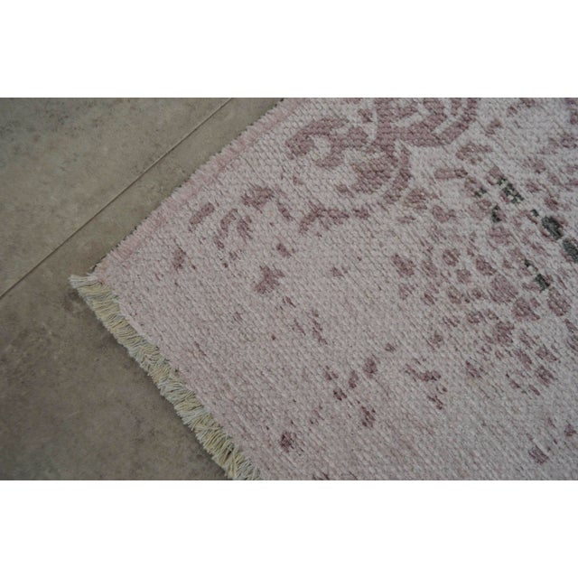Purple Overdyed Turkish Rug - 3′11″ X 5′11″ - Image 8 of 9