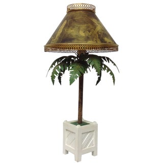 Maison Bagues Large French Potted Palm Table Lamp