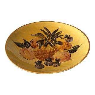 Vintage Pottery Large Shallow Fruit Bowl