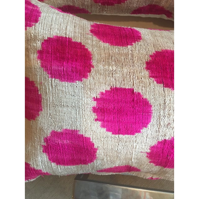 Pink Dots Handmade Pillows - A Pair - Image 6 of 9