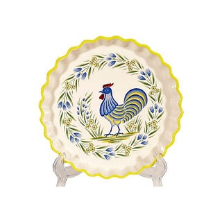 Hand-Painted Ceramic Pie Dish